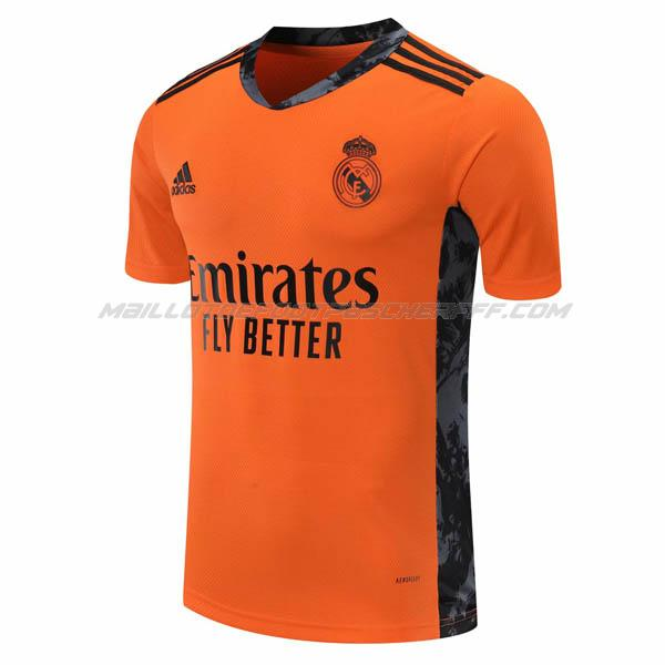 maillot gardien real madrid orange 2020-21
