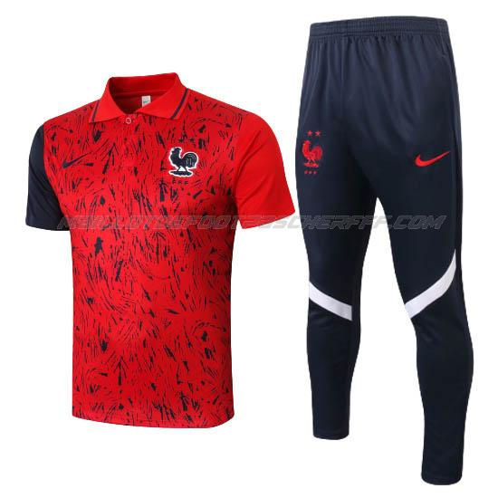 maillot polo et pantalons france i rouge 2020-21