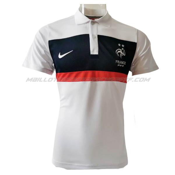 maillot polo france bianco 2020