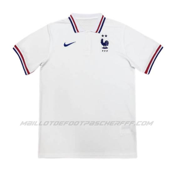 maillot polo france blanc 2020-21