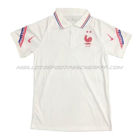 maillot polo france blanco 2020-21
