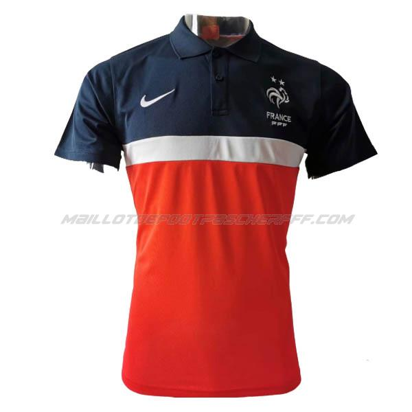 maillot polo france rosso-blu 2020