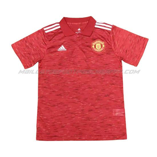 maillot polo manchester united rouge 2020-21