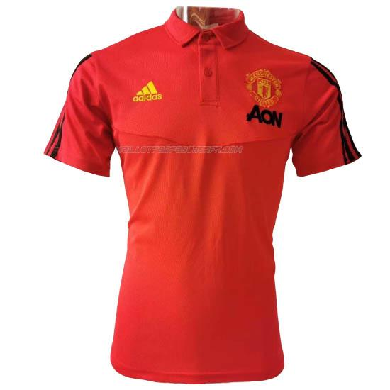 maillot polo manchester united rouge 2020