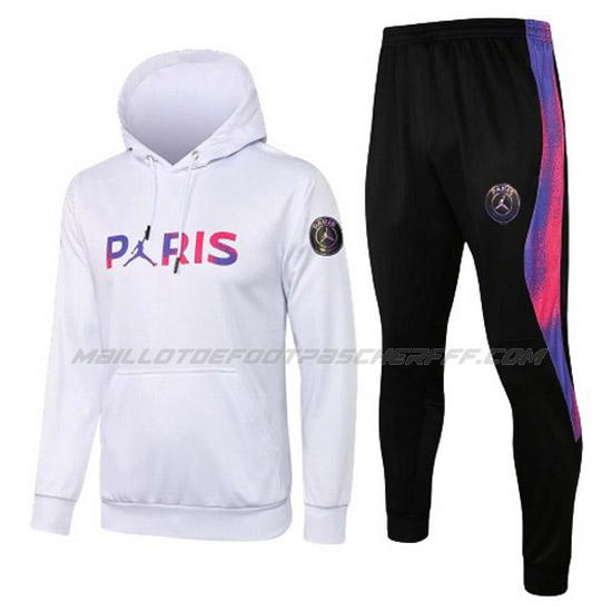 sweat à capuche paris saint-germain i blanc 2021