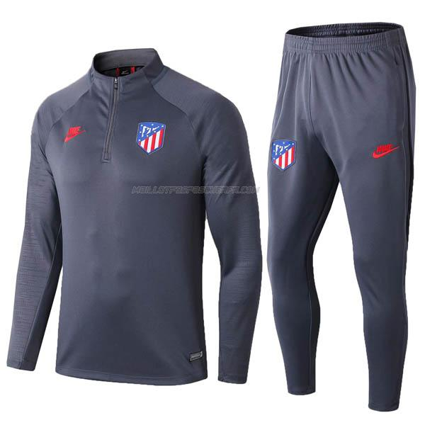 sweat atletico madrid gris foncé 2019-2020