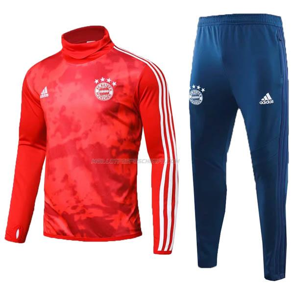 sweat col montant bayern munich rouge 2019-2020