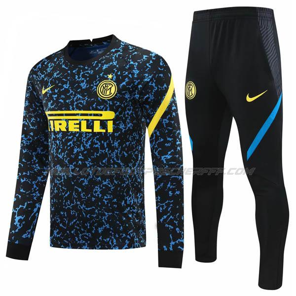 sweat inter milan bleu noir 2020-21