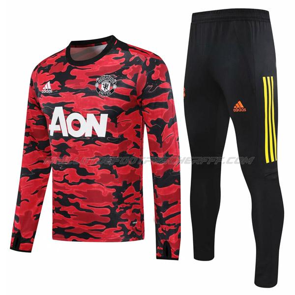 sweat manchester united rouge noir 2020-21