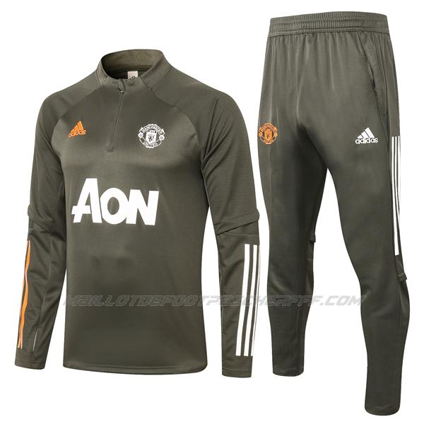 sweat manchester united verde oscuro 2020-21
