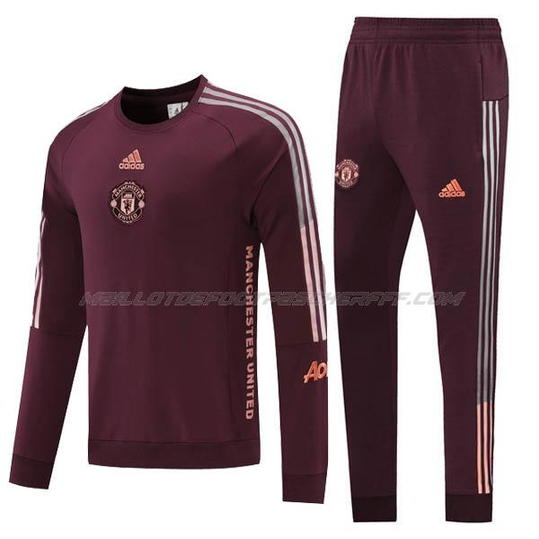 sweat manchester united vin rouge 2020-21