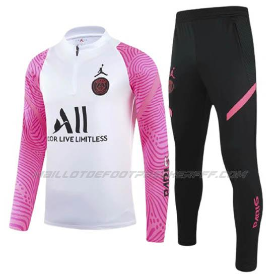 sweat paris saint-germain rose blanc 2021